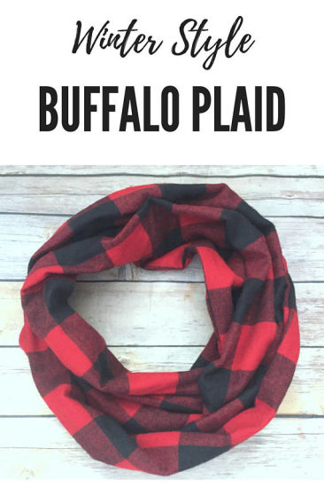 red black christmas buffalo plaid infinity scarves gifts