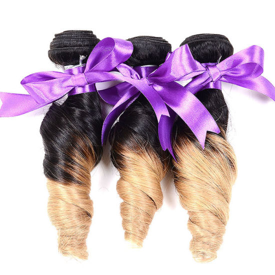 8A Ombre Peruvian Spring Curl Virgin Hair Three Tone Hair 3PCS Ombre Peruvian Spiral Curl Weave Human Hair Ombre Hair Extensions pictures & photos