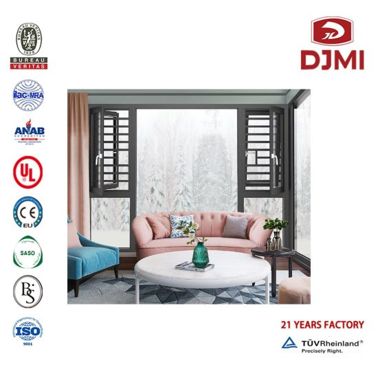 Wholesale Australia Standard Inward Opening Waterproof Heat Insulated Double Glazed Black Aluminum French Casement Window