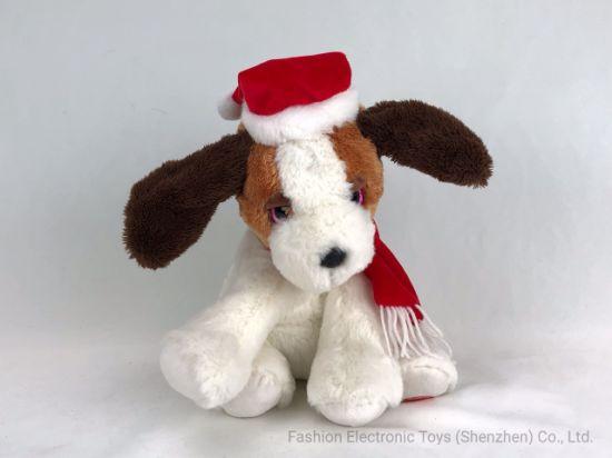 Christmas Dog Flapping Ear Toy Stuffed Halloween