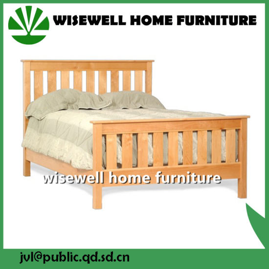 Pine Wood Knock Down Bed Flat Bed (W-B-0088) pictures & photos