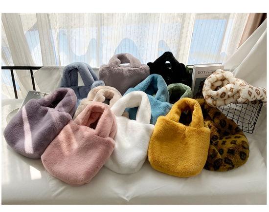 Faux Fur Lady Handbags Fake Fur Fashion Bags