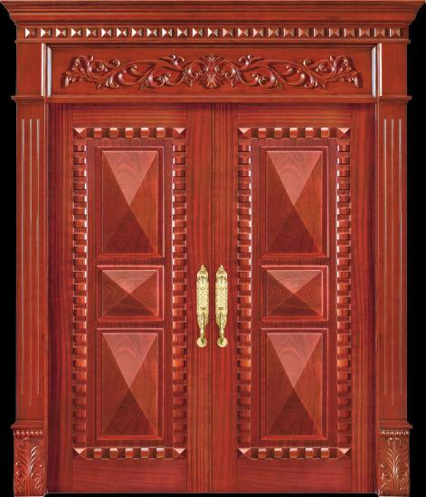 China Luxury Exterior Wooden Doors Cl 3049 China Main Door Teak