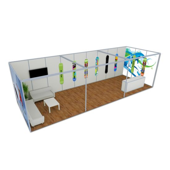 Aluminum Modular Maxima Customzized Exhibition Booth Trade Display Stand