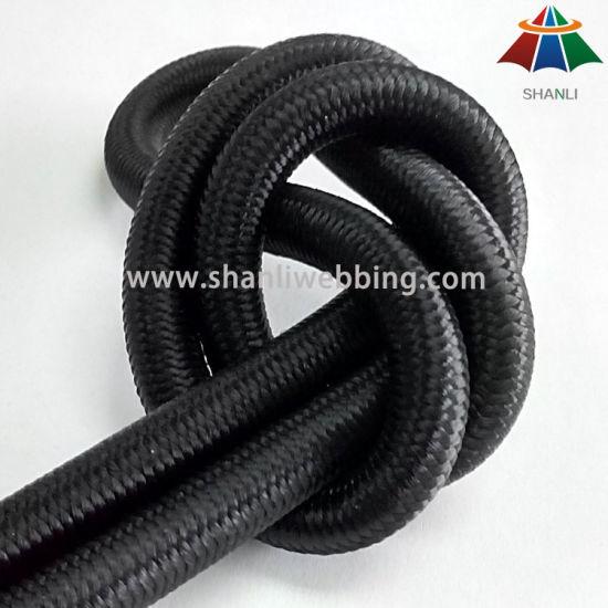 8mm High Tenacity Black Elastic Bungee Shock Cord