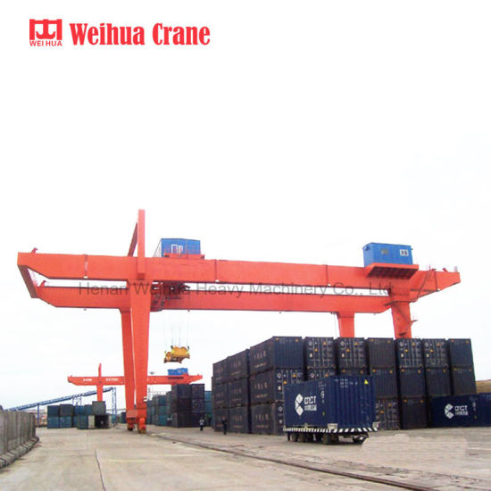 U Model Double Girder Gantry Crane for 50t Container Cargo