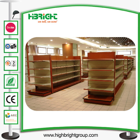 Shop Convenient Store Metal Display Wall Shelf pictures & photos