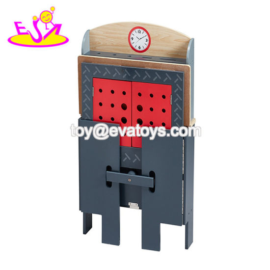 New Arrived Educational Play Wooden Boys Work Bench with Multi-Function W03D094 pictures & photos