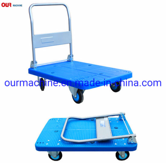 Plastic Folding Platform Hand Trolley & Utility Service Cart 150kg 300kg