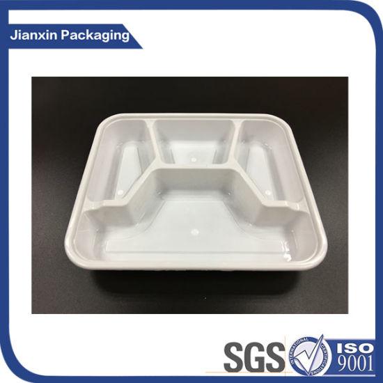 4 Compartment Plastic Lunch Box