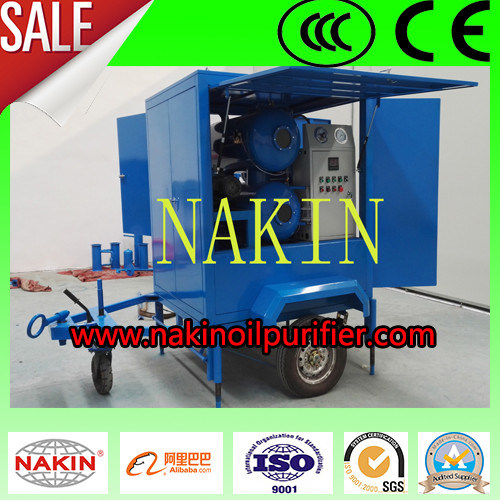 Zym-100 Power Plant Series High Vacuum Transformer Oil Purifier with Trailers pictures & photos