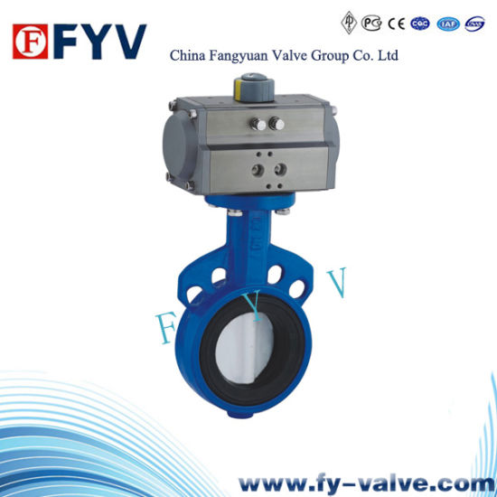 Pneumatic Wafer Type Butterfly Valve pictures & photos