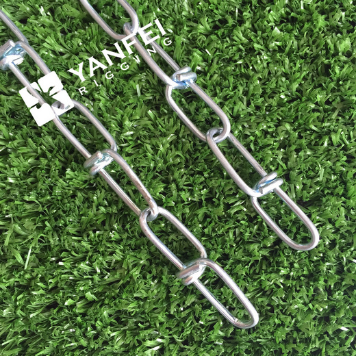 1.0mm-5.0mm DIN5686 Zinc Plated Knotted Link Chain pictures & photos