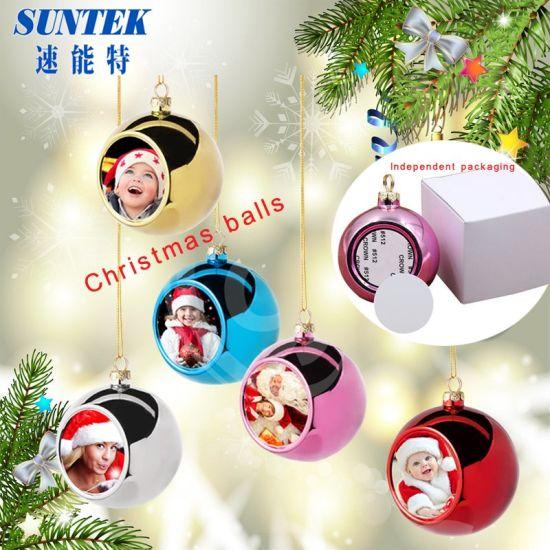 Wholesale Christmas Decoration Ceramic Sublimation Heat Exchange Ornaments pictures & photos