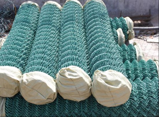 Wholesale Vinyl Coated Chain Link Fence/Diamond Wire Mesh/Chain Link Wire Mesh