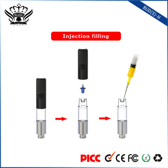Bud (S) -H 0.5ml No Leakage Refillable Cartridge Cbd Oil Vape Pen Electronic Cigarette pictures & photos