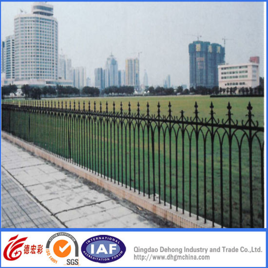 The Classic Simple Welded Steel Fences With Solid Bar Garden Security Wrought Iron Fence Fencing Designs