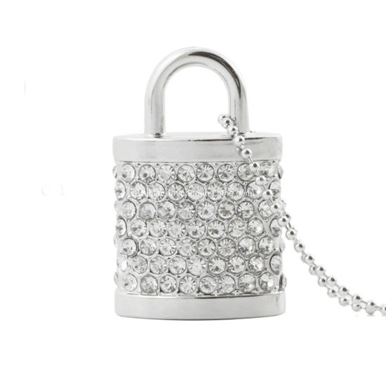 Mini Metal USB Flash Memory Crystal Lock USB Stick pictures & photos