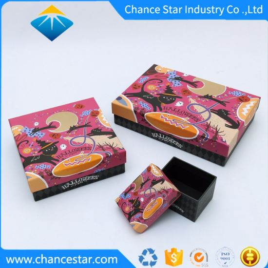 Custom Full Color Printing Paper Cardboard Gift Packing Boxes
