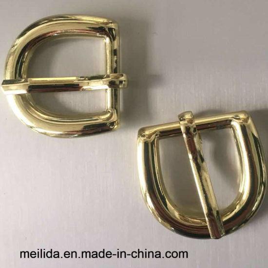 Zinc Alloy D Ring Shape Gold Metal Pin Buckles