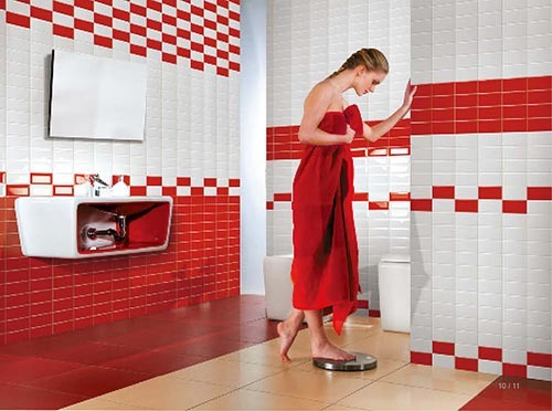 7 5x15cm Glossy Glazed Ceramic Wall