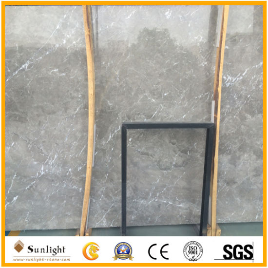 Polished Cyprus Grey Marble Slabs For Flooing Tiles Kitchen Island