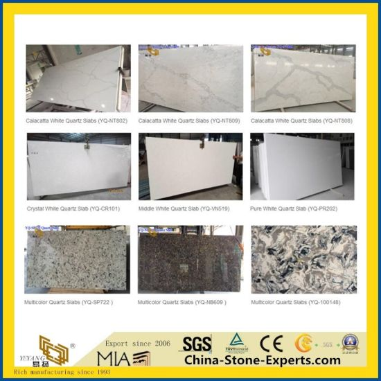 White Artificial Silestone/Lyra/Engineered Quartz Look Marble Stone For  Kitchen/Bathroom/Countertop/Vanity Tops