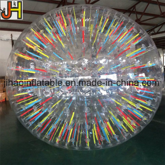 1.8m Colorful Transparent PVC TPU Inflatable Human Zorb Ball pictures & photos