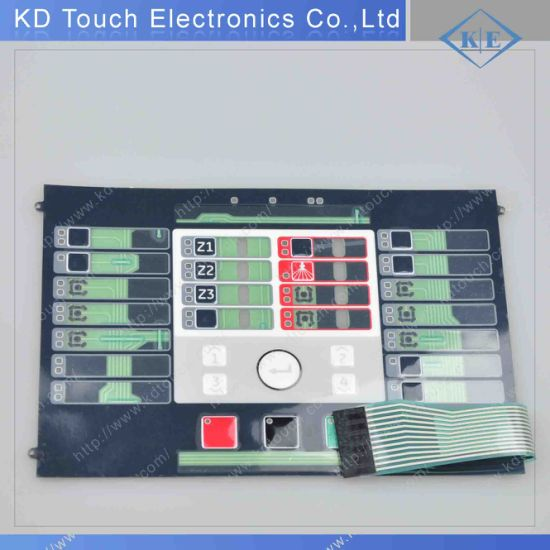 Multi-Color LED Embossing Membrane Keypad with Connector