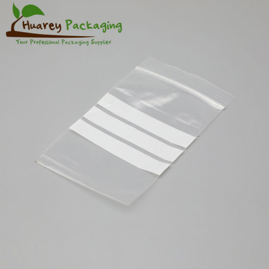 LDPE Clear Plastic Reclosable Ziplock Poly Bag
