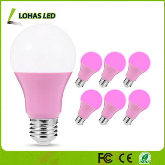 5W E26 LED Pink Light Bulbs 40W Equivalent Pink LED Chips A19 Light Bulbs for Decoration