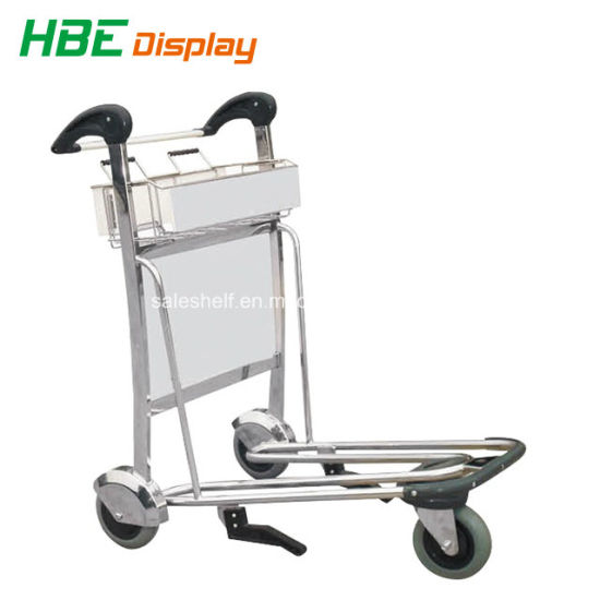Smart Stainless Steel Made Airport Shopping Trolley pictures & photos