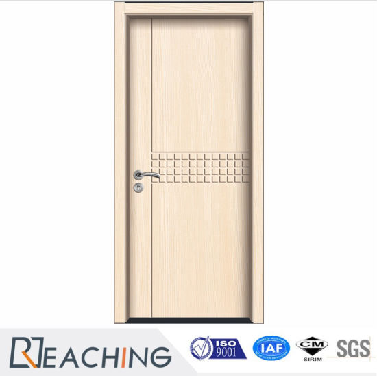 Attractive Excellent Surface Finish PVC Wood Grain MDF Door For Apartment Anti Noise