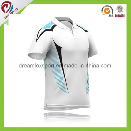 Custom Design Sublimated Digital Printing Cricket Jersey Pattern pictures & photos