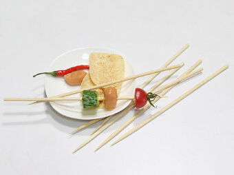 Bamboo Paddle Skewer, Green Skin Gun Shaped Flag Skewer Barbecue /BBQ Stick (BC-BS008)