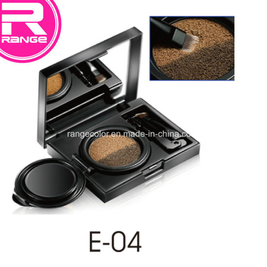 Fashionable 2 Basic Colors Air Cushion Eyebrow Gel with Brush, Eyebrow Kit pictures & photos