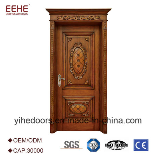 Hot Item Entrance Teak Wood Door Models Wood Door Designs