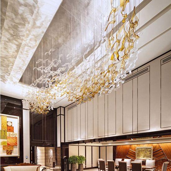 China Large Custom Hotel Lobby Chandelier China Hotel