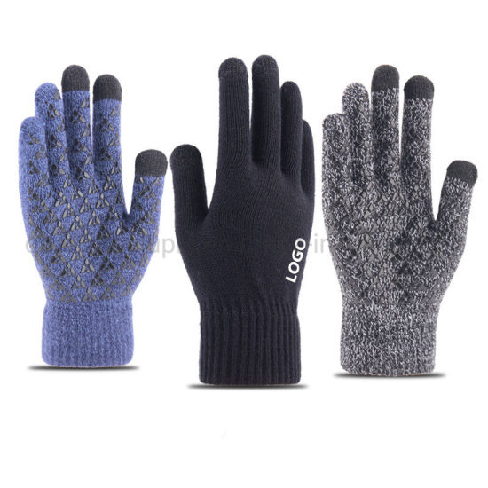 OEM Multi-Color Knitted Thicken Custom Men Women Touch Screen Gloves pictures & photos