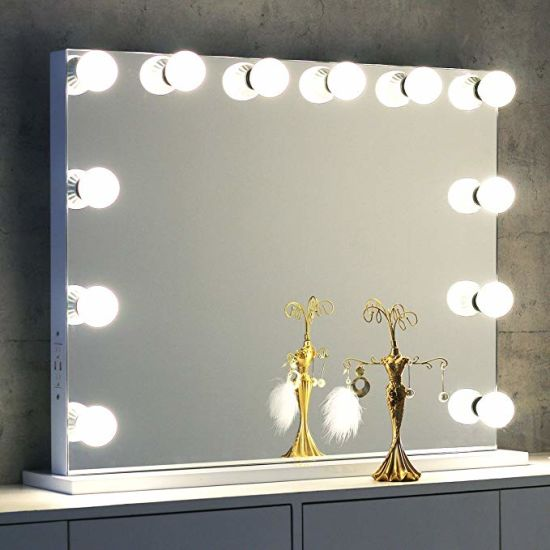 Factory Wholesale Hollywood Wall Mounted Makeup Vanity LED Mirror