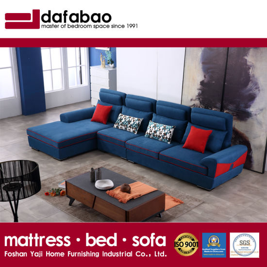 Superbe Modern Design Sectional Sofa With Flannel High Quality Fabric For Hotel Bed  Room Furniture Fb1149