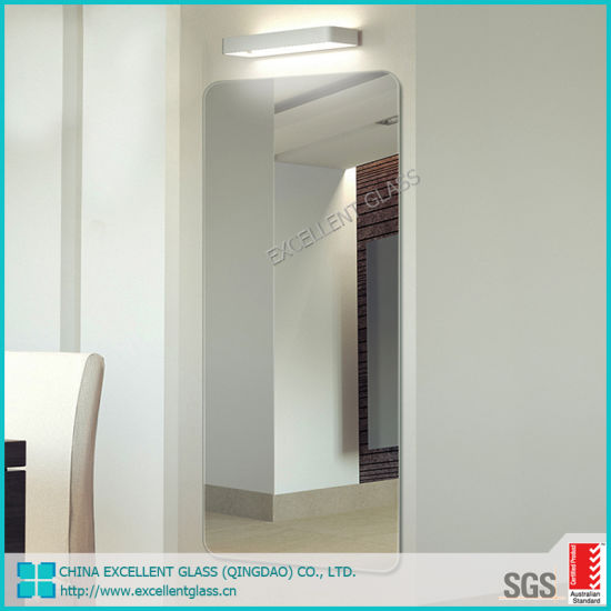 Unframed Mirror / Round Mirror / Bathroom Mirror /Edge Polished Mirror Factory Customized Wholesale Frameless Silver Mirror for Home Decoration
