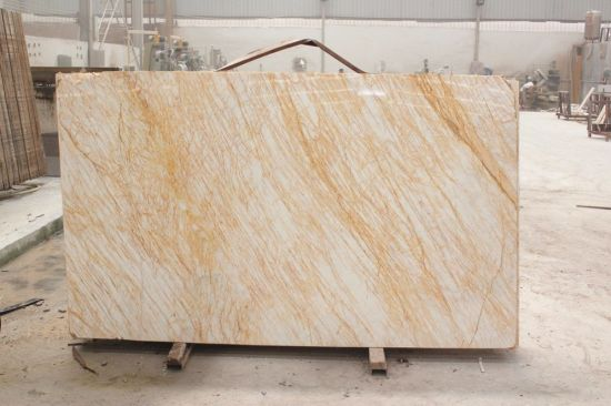 China Golden Spider Marble Slab For KitchenBathroomWallFloor - Marble slab bathroom