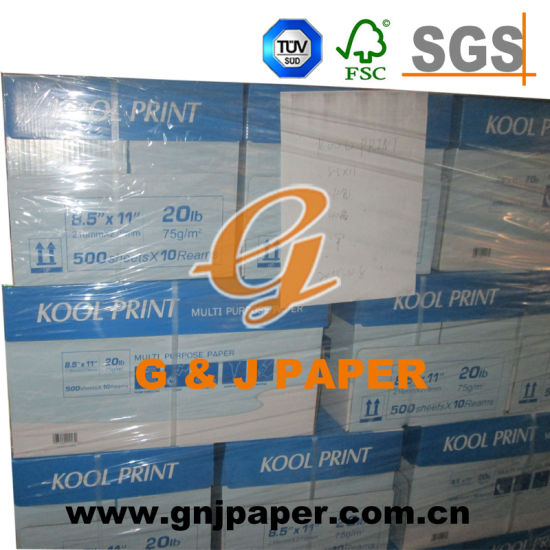 75GSM 8.5*11inch Size Cheap Copy Paper Used on Laser Printer pictures & photos