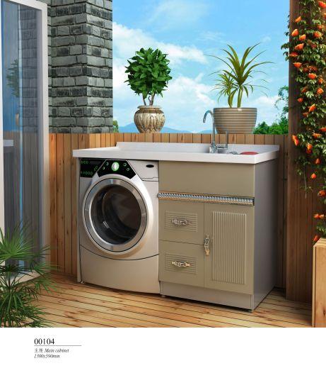Stainless Steel Metal Luxury Hotel Modern Bathroom Furniture Laundry Cabinet