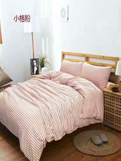 100% Yarn-Dyed Cotton Fabrics of Bedding Set pictures & photos