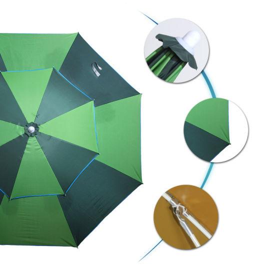 Beach Umbrella 6 FT. Aluminum Cabana Stripe Bistro Umbrella
