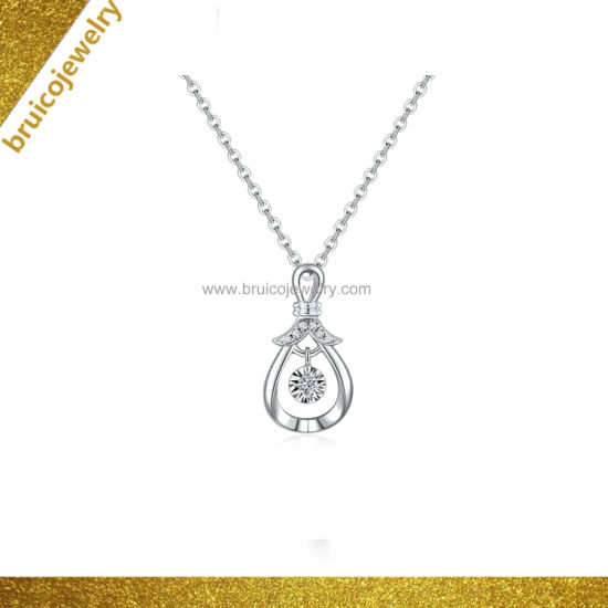 Fashion Water Drop Necklace Pendant with CZ Sterling Silver Jewelry Necklace for Girls pictures & photos