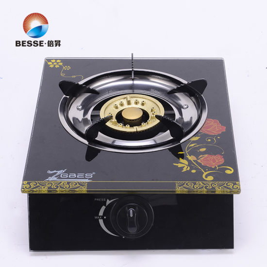 3D Painting Glass Single Burner Gas Cooker ZG-1003