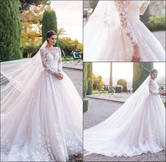 China Long Sleeves Wedding Dress Custom Made Lace Princess Bridal Dresses Mg560 China Wedding Dress And Bridal Dress Price,Discount Wedding Dresses Columbus Ohio